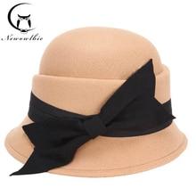 Fashion Hat Spring Woolen Autumn New Bow And Women Leisure-Hat Korean-Version Outdoor