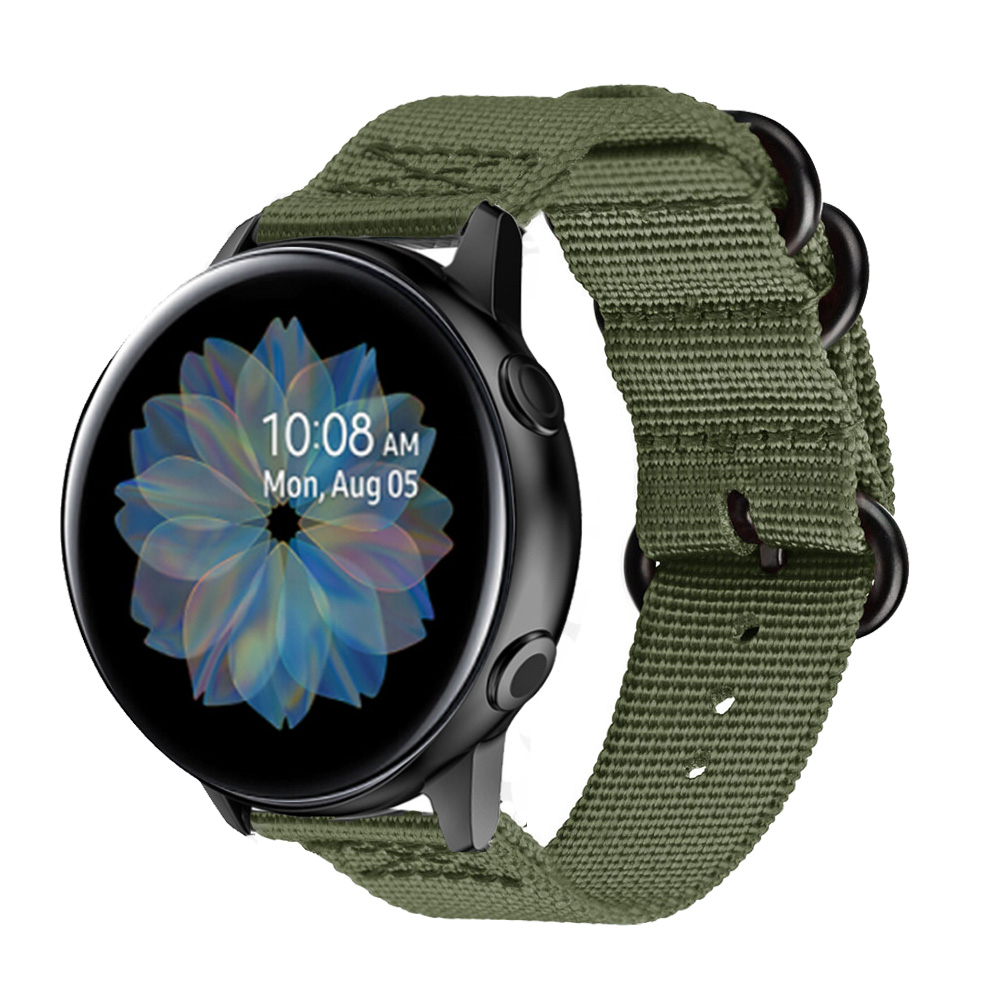 Active2 <font><b>20mm</b></font> Watch Strap Band For Samsung galaxy watch Active 2 40mm 44mm correa <font><b>pulseira</b></font> nylon watchband For Huami <font><b>Amazfit</b></font> GTS image