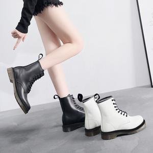 Women Boots Chunky Doc 8Eye High Quality Leather Platform Winter Boot Men Casual Motorcycle Woman Shoes Fashion Women Boots 2020