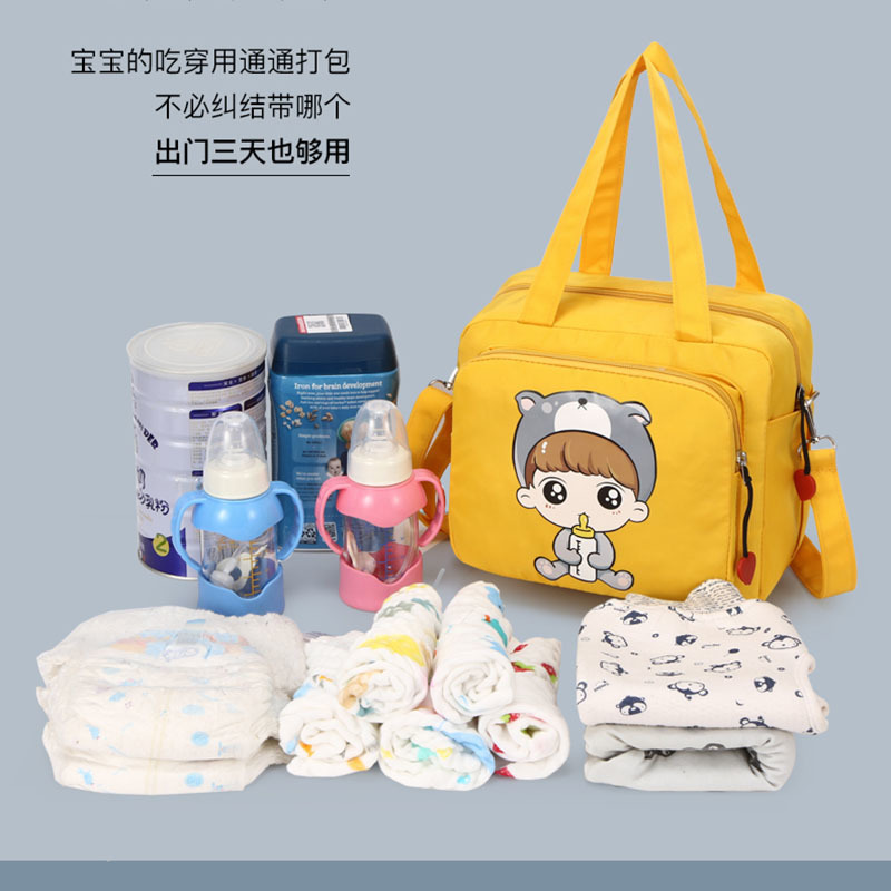 Diaper Bag New Style Wet And Dry Separation Diaper Bag Milk Insulated Bag Simple Fashion Hand Double Back MOTHER'S Bag