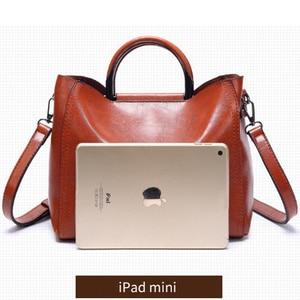 Image 3 - Vrouwen Vintage Lederen Handtassen Voor Vrouw Schoudertas Ontwerper Messenger Crossbody Tassen 2019 Dames Luxe Handtas