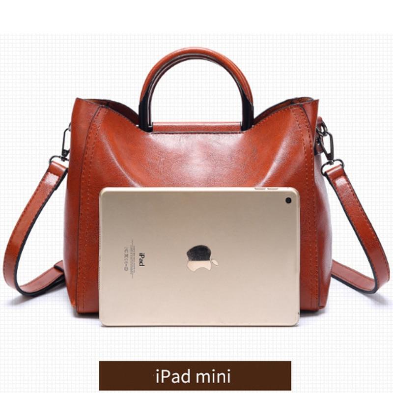 Image 3 - Women Vintage Leather Handbags For Woman Shoulder bag Designer  High Quality Messenger Crossbody Bags 2019 Ladies Luxury Hand  bagShoulder Bags