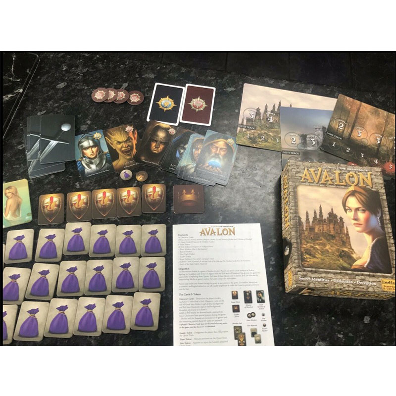Board-Game-Card Educational-Toys English Resistance Avalon Family 40JP21 Indie Interactive