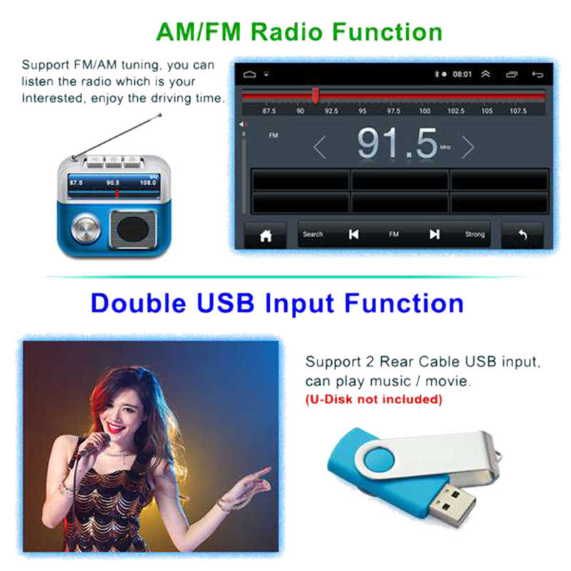 2 Din 9 Inch Android 8,1 Universal Auto Radio Doppel Din Stereo GPS Navigation in Dash Video WIFI USB Bluetooth auto Radio Multime