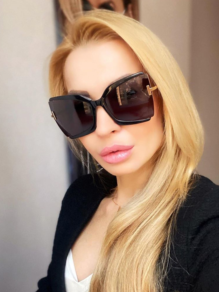 Qpeclou Square Sunglasses Oculos Oversized Colorful Shades Female Designer Women Brand