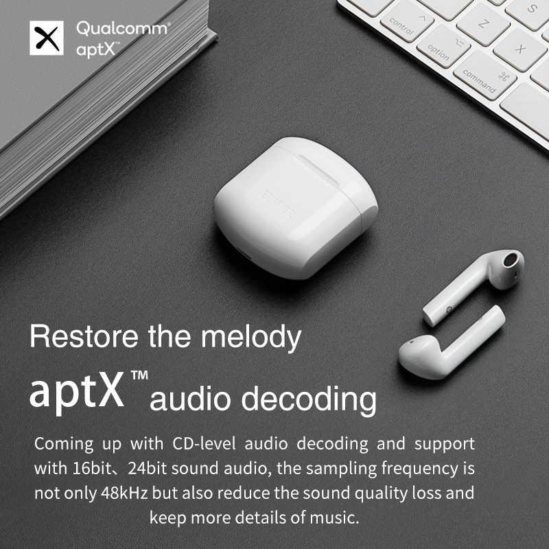 Edifier Tws200 Qualcomm Aptx Wireless Earphone Bluetooth 5 0 Tws Earbuds Cvc Dual Mic Noise Cancelling Up To 24h Playback Time Bluetooth Earphones Headphones Aliexpress