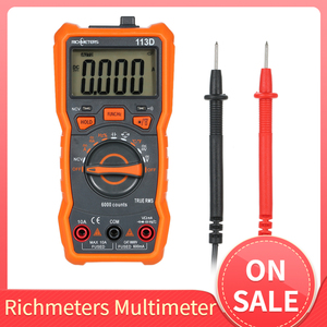 RICHMETERS Multimeter Multimetro Tester Digital Multimeter 6000 Counts Auto Ranging AC/DC Voltage Temperature Measuring Meter(China)