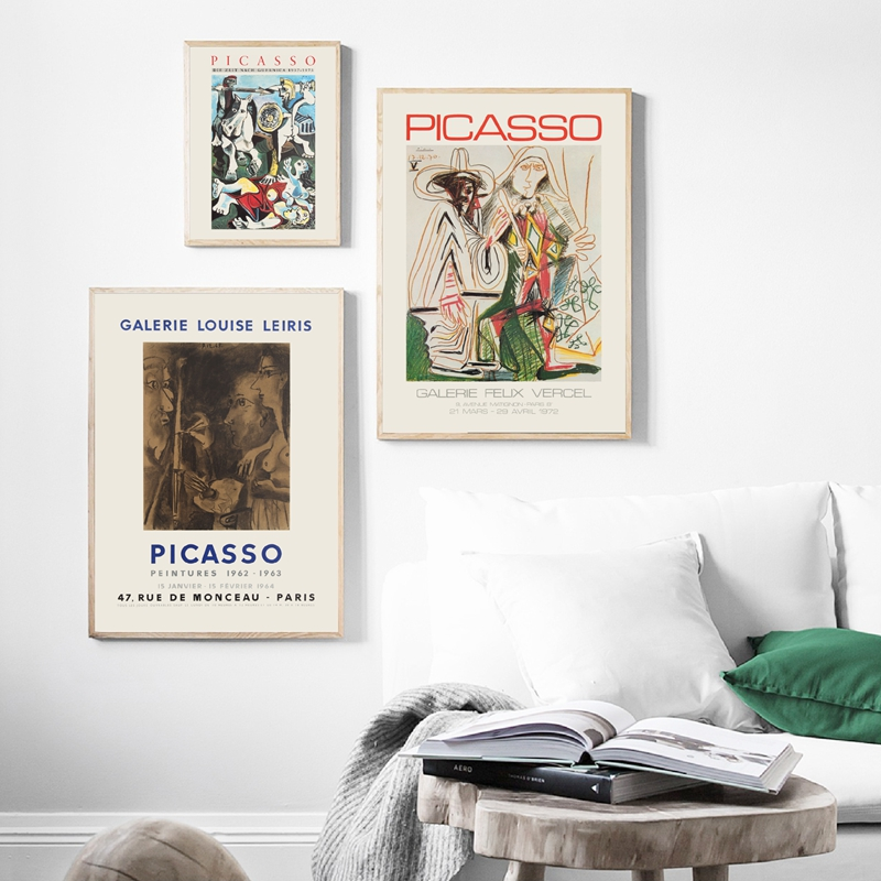 Picasso exhibition posters wall art print