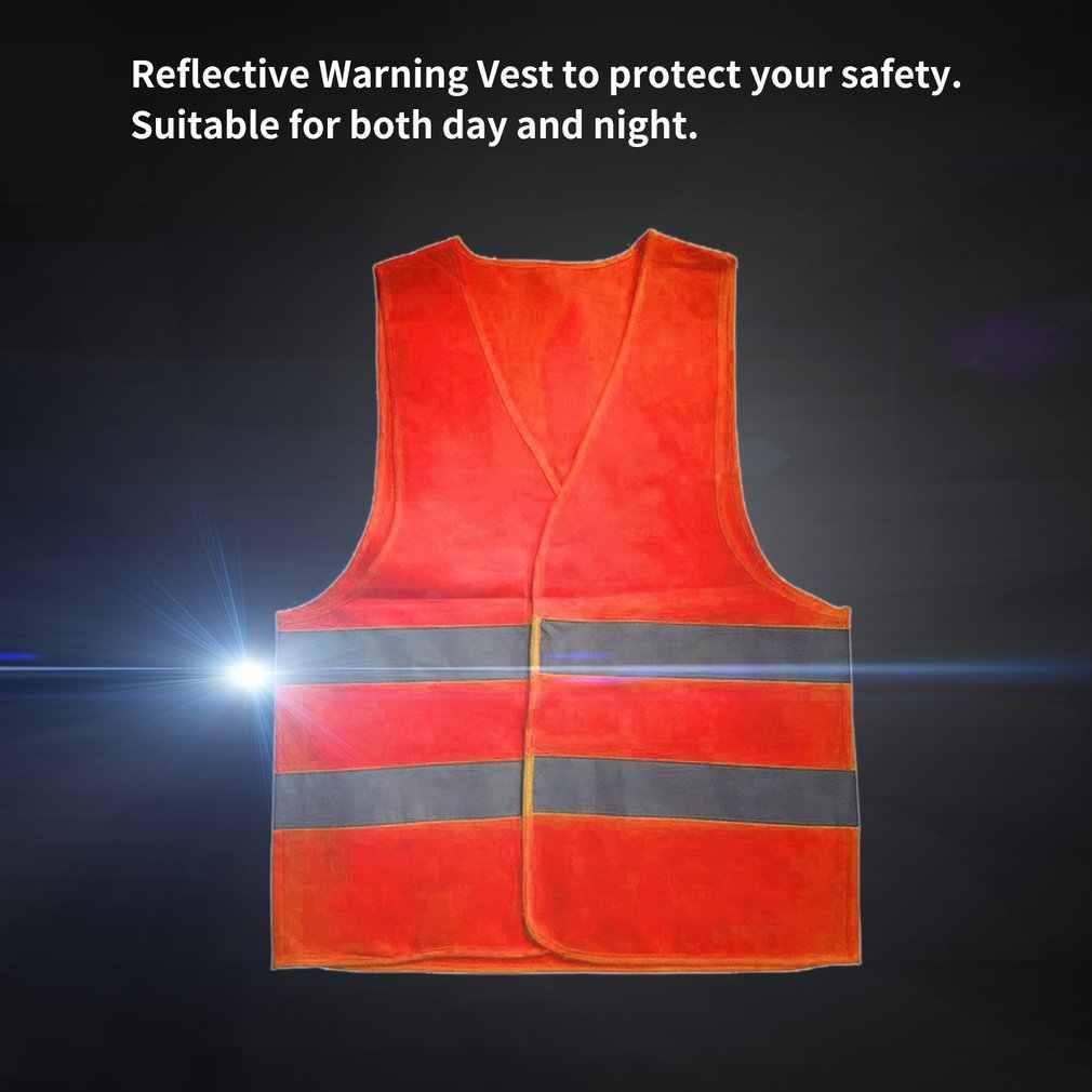 Yeni Unisex yansıtıcı yelek iş giysisi yüksek görünürlük gündüz gece koşu döngüsü uyarı yetişkin sarı yelek XL XXL XXXL güvenlik yelek