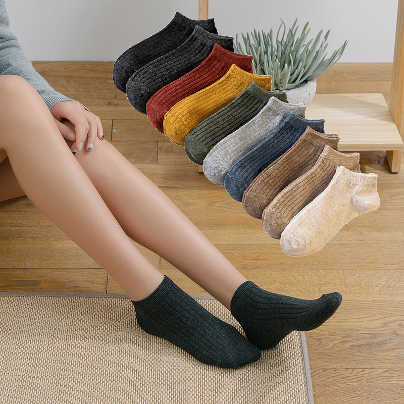 10 pairs of summer 2019 breathable male and female socks comfortable Japanese imported planetary plain cotton socks in Socks from Underwear Sleepwears