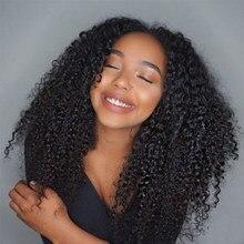 250 gęstość peruka z kręconych włosów typu Kinky pełna peruki typu Lace z ludzkich włosów dla kobiet Glueless HD przezroczysty Bob peruka fałszywe skóry głowy Dolago peruki
