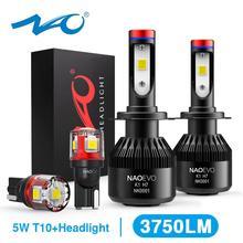NAO H7 led farlar H4 LED ampul araba H11 H9 H1 H3 HB4 HB3 9005 9006 H8 H27 9004 H13 881 880 72W 8000LM 12V ışık beyaz 6000K