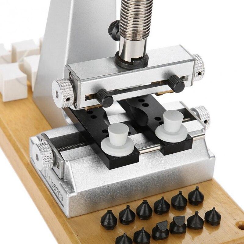 5700 Bench Horloge Case Opener Horloge Tool Terug Opener met 6 Sterft voor Horloge Reparatie Onderdelen Gereedschap voor Horlogemakers - 3
