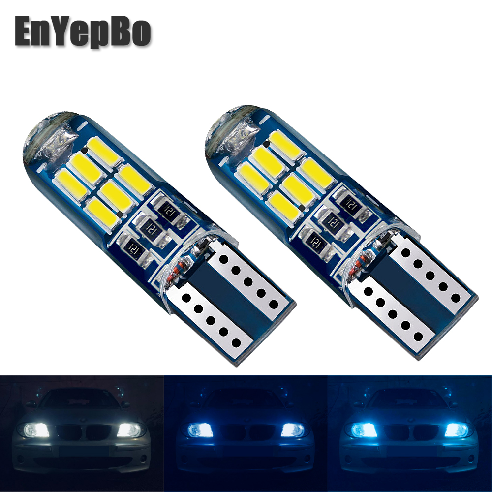 2Pcs Car T10 W5W bulb Clearance Light For <font><b>BMW</b></font> 1/3/5 SERIES <font><b>E30</b></font> E36 E46 E34 E39 E60 X3 X5 X6 E53 E70 Z3 Z4 F10 F25 Parking Light image