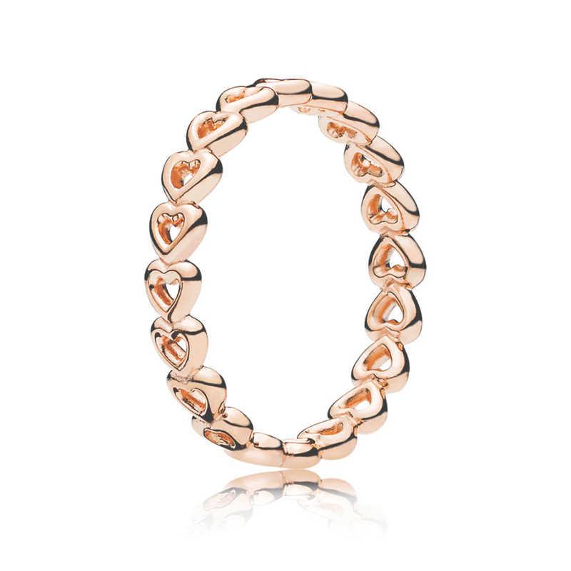 Новинка, розовое золото, романтическое кольцо с бантом в виде короны для женщин с прозрачным кристаллом, кольцо на палец, свадебные украшения, подарок, специальное предложение