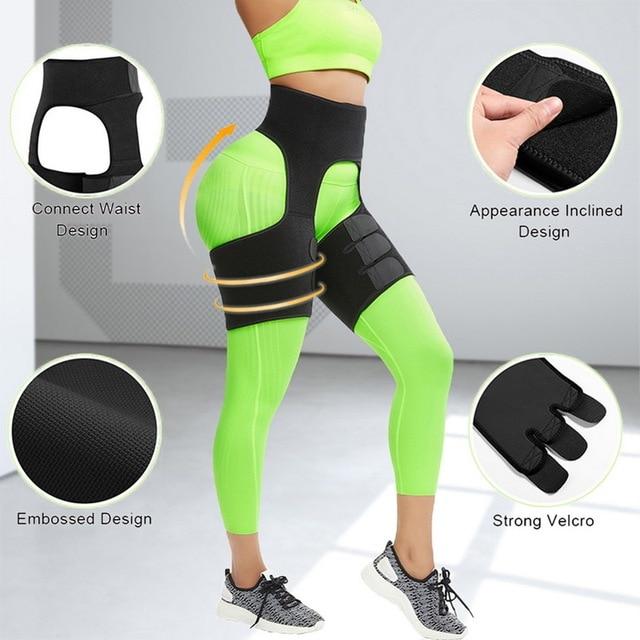 VERTVIE Women Neoprene Slimming Belt Body Leg Shaper Weight Loss Fat Burning Waist Trainer Sweat Waist Belt Workout Thigh Shaper 3