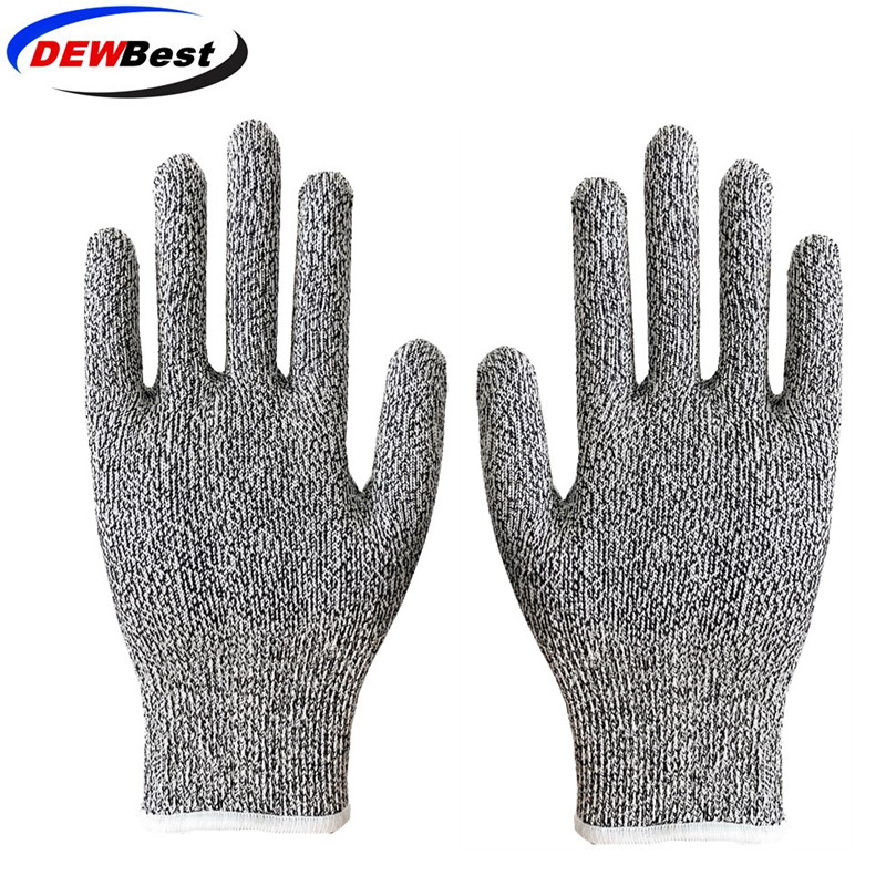 Image 2 - Anti Cut Proof Gloves Hot Sale dewbest Grey Black HPPE EN388 ANSI Anti cut Level 5 Safety Work Gloves Cut Resistant Gloves-in Self Defense Supplies from Security & Protection