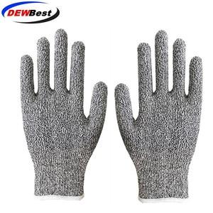 Image 2 - Anti Cut Proof Gloves Hot Sale dewbest Grey Black HPPE EN388 ANSI Anti cut Level 5 Safety Work Gloves Cut Resistant Gloves