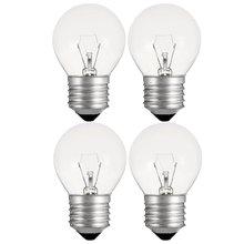 4 pces filamento bulbo lâmpada de vidro lâmpadas incandescentes e27 luzes de filamento de tungstênio