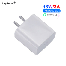 18W USB Type C Charger Adapter For iPhone 8 11 XS Max PD Fast Charging Power Type-C EU US UK Plug for Apple Macbook