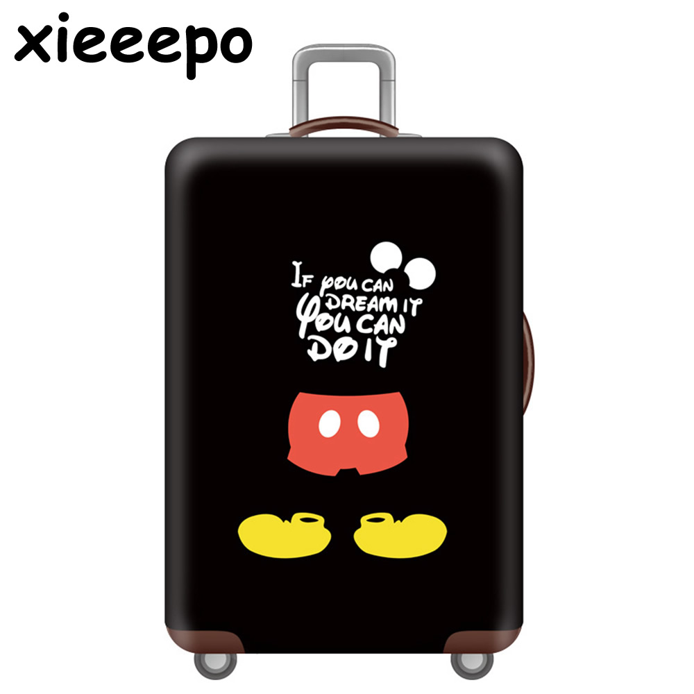 Cartoon 3D Cat Luggage Cover Blue Protective Cute Waterproof Thicken Elastic Suitcase Cover For 18-32 Inch XL Travel Accessorie
