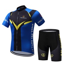 Cycling Jersey Short Sleeve Set Biking Clothing Mens Maillot Ropa Ciclismo Uniformes Bike MTB Cycle Clothes Quick-dry