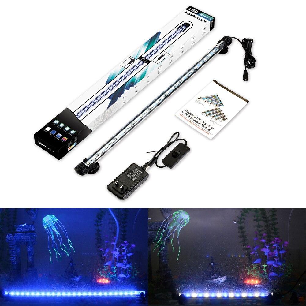 Aquarium Fish Tank Bar LED Submersible Waterproof Clip Strip Light Lamp US Plug