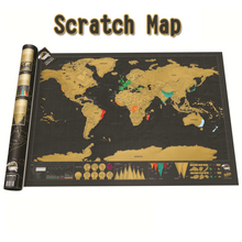 Luxury Erasing World Travel Map Scratches Large Small Scratch Room Home Office Decoration Wall Stickers