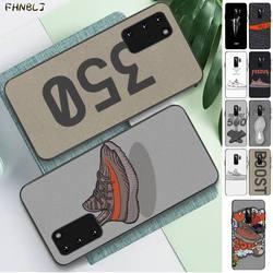 Fhnblj kanye omari west boost 350 700 v2 moda luxo telefone capa para samsung s6 s10 5g s7 borda s8 s9 s10 s20 plus s10lite