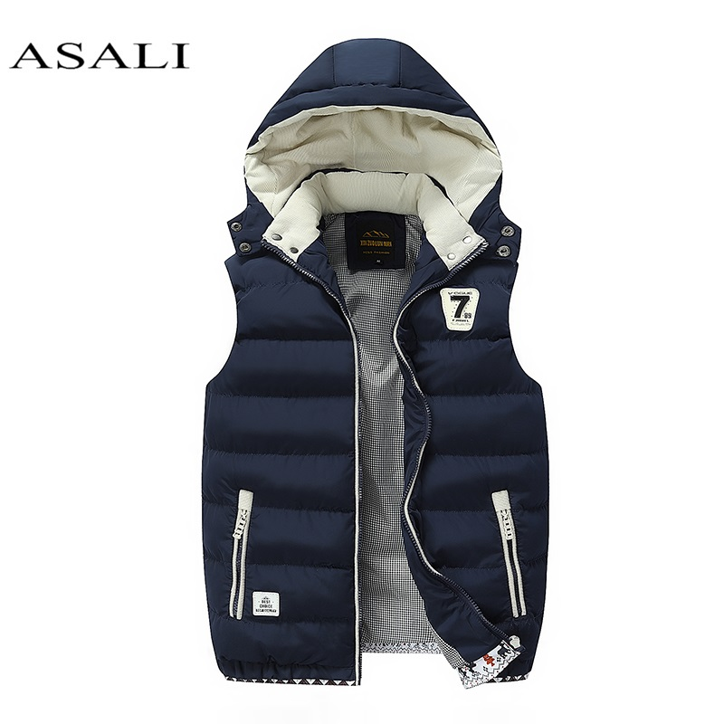 Hooded Men Winter 2019 Fleece Vest Male Thick Warm Waistcoat Cotton Casual Soft Vests Mens Windproof Sleeveless Jacket Parkas