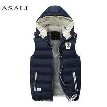 Hooded Men Winter 2019 Fleece Vest Male Thick Warm Waistcoat Cotton Casual Soft Vests Mens Windproof