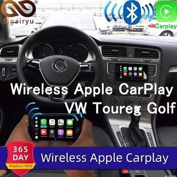 Sinairyu Wifi Wireless Apple Car Play Carplay Retrofit for 2010-2017 Volkswagen with iOS 13 Android Mirror Reverse Camera