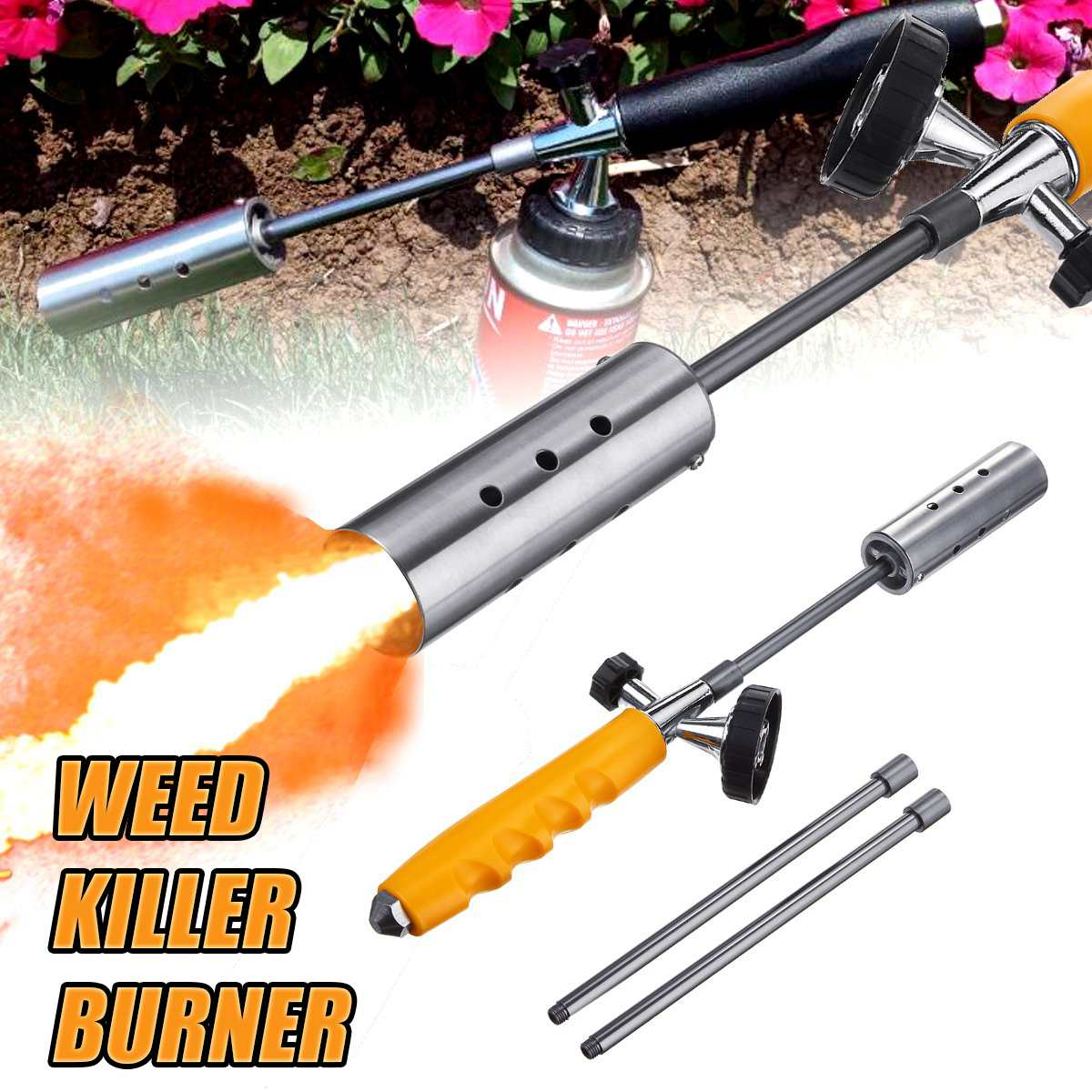 Waterproof Weeding Fires Guns Grass Burner Blowtorch Multipurpose Gas Torch Welding Gas Torch For Outdoor Picnic BBQ & Weeders