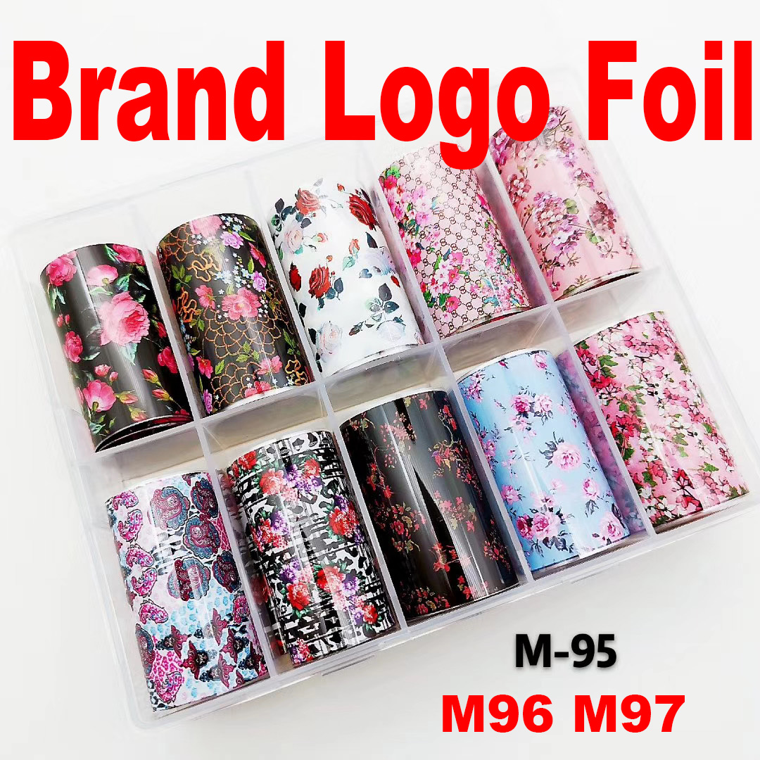 Flower Nail Stickers Manicure Art Decorations Decals Foil Nail Sticker For Girls 2020 New Arrival