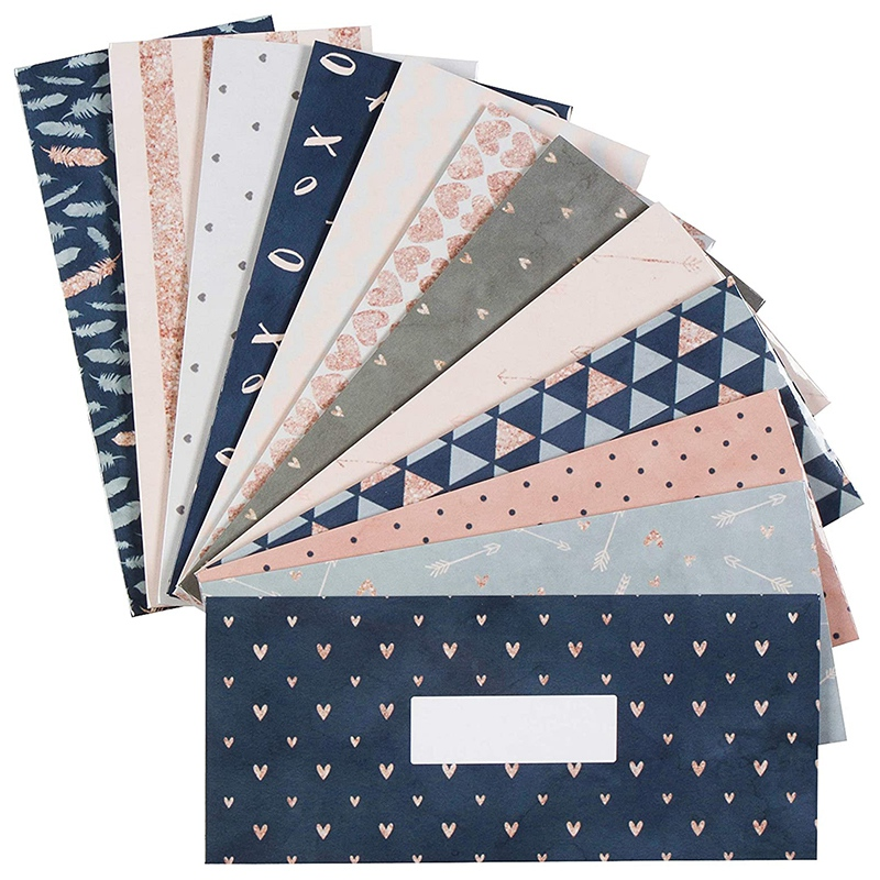 12Pcs Budget Envelopes Laminated Cash Envelope System For Cash Savings Plus 12 Budget Sheets
