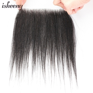 Isheeny Remy Human Hair Replacement System Toupee 2*16 M Style Forehead Toupee Wig 8