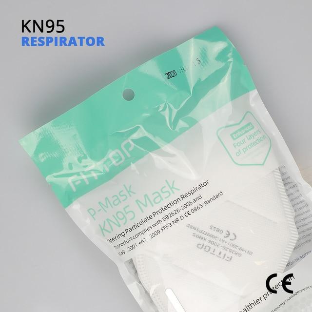 5 pcs KN95 Certificazione CE Viso Maschera N95 FFP3 Bocca Maschera Anti Forte di Protezione di FFP2 KF94 4