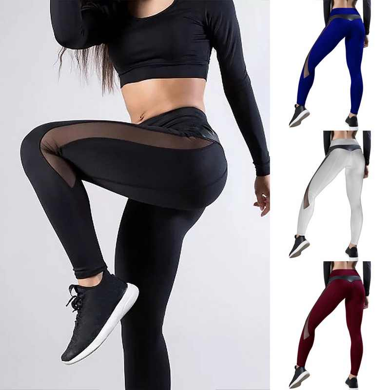 Vrouwen Leggings Sexy Broek Push Up Fitness Gym Leggins Running Mesh Leggins Naadloze Workout Broek Femme Hoge Taille Mujer 2020