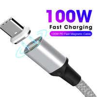 Câble de Charge magnétique PD 100W câble de Charge rapide USB-C Type C pour Macbook Pro ordinateur portable téléphone portable câble magnétique réversible SIKAI