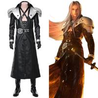 Remake Final Fantasy Cosplay Sephiroth Costume FF VII Sephiroth Uniform Suit Adult Halloween Carnival Costume Men Custom Made