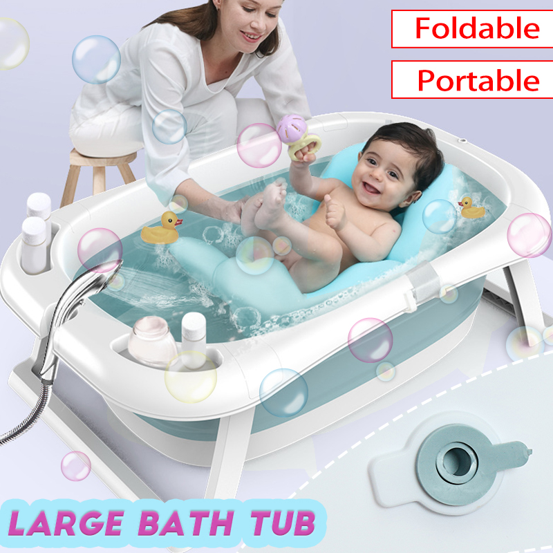 Portable Foldable Newborn Baby Folding Large Bath Tub Baby Swim Smart Tub Bath Body Washing Children Shower Non-Slip Kid Bathtub