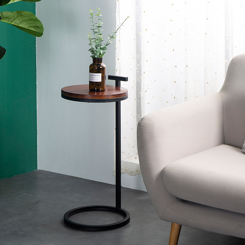 Side table living room furniture Light luxury corner table simple wooden balcony small side tables small apartment coffee desk