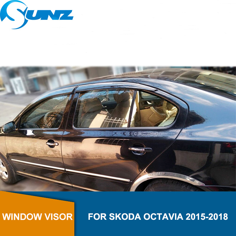 Window Visor for Skoda OCTAVIA 2015-2018 side window deflectors rain guards SUNZ