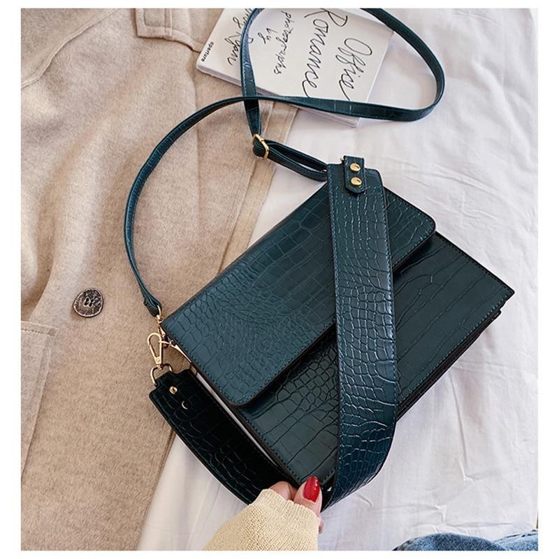 Малки ретро ретро женски чанти през - Дамски чанти - Снимка 5
