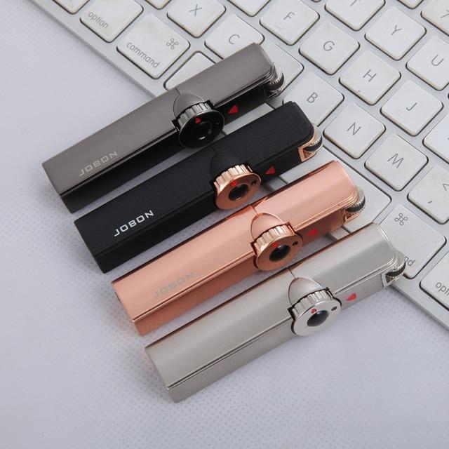 Jobon One Triple Torch Lighter Metal Windproof Gas Butane Jet Flint Lighter 3 Nozzles Turbo BBQ Cigar Spray Gun Gadgets For Men 5