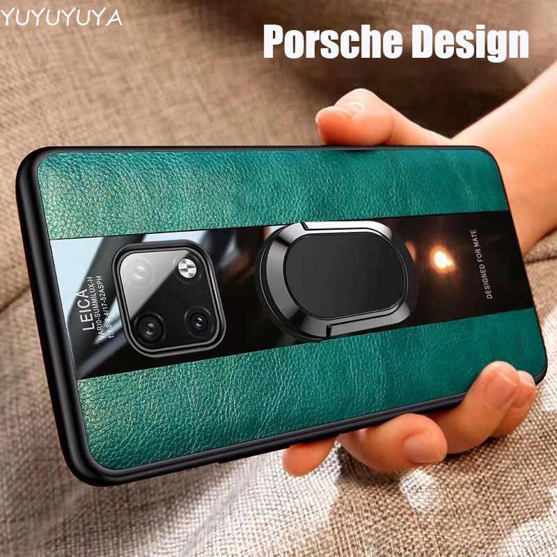 Porsche anello per il caso di Huawei p10 20 30 40 pro cuoio di affari shell per mate10 20 30 pro P30 lite all-inclusive caso della parte posteriore