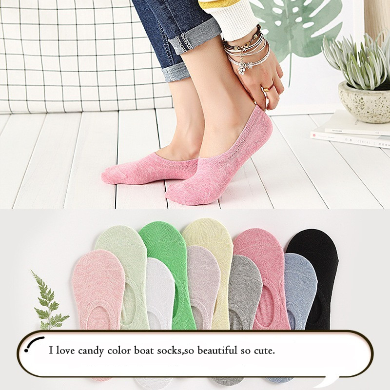 Some Yarn Rainbow Color Cute Socks Women Creative Lovely Socksr Candy Colo Boat