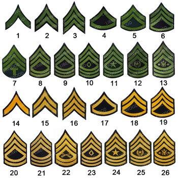Parche bordado del ejército de ee. Uu., banda para los hombros, para coser a rayas, planchado con gancho, insignia, emblema, parches DIY para ropa