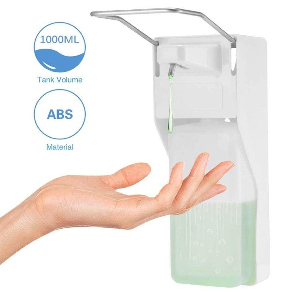 1000ml Elbow Disinfection Dispenser Wall-Mounted Soap Dispenser Spray Hand Sterilizer Manual Type Device