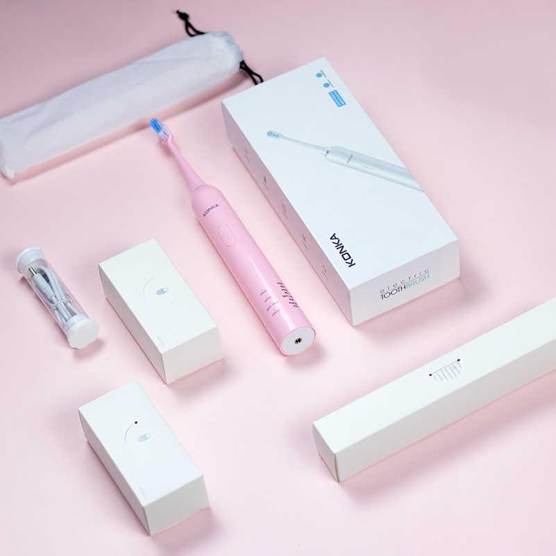 كونكا فرشاة أسنان كهربائية USB فرشاة أسنان للسفر أبيض أزرق وردي szczoteczka